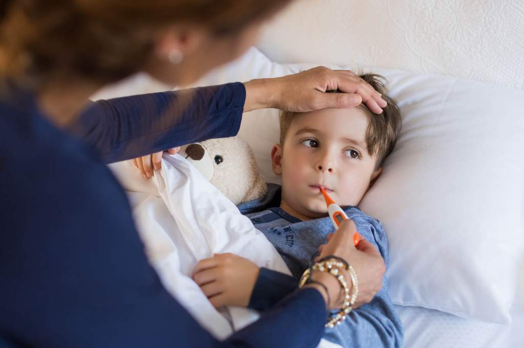 The flu is a virus that affects the respiratory tract. Symptoms of the flu may include high fever