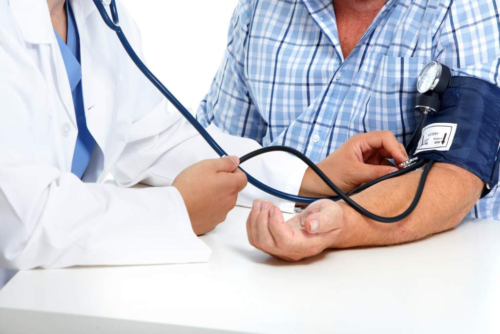 Blood pressure is the measure of the force of blood against the walls of your arteries. It is measured in two forces. The first is the force the heart creates as blood is pumped into the arteries and on through the circulatory system. The second measures the arteries' force as they resist the flow of blood