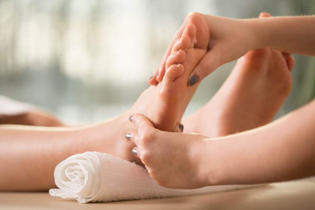 The feet work harder than most areas of our body because they hold up our weight and move us from place to place. Massages feel great because they help the muscles to relax. One type of massage is called reflexology