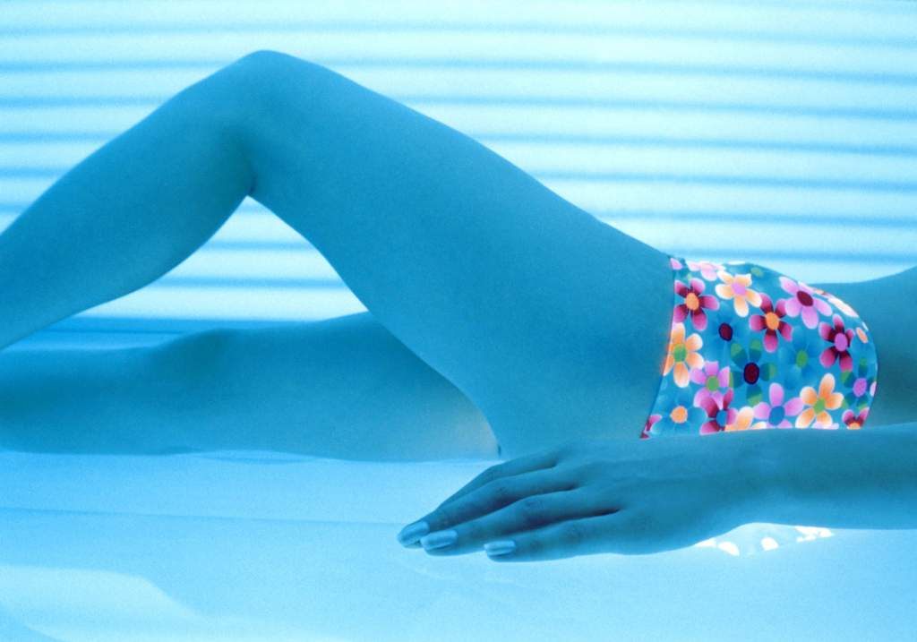 Tanning beds give off concentrated UV rays